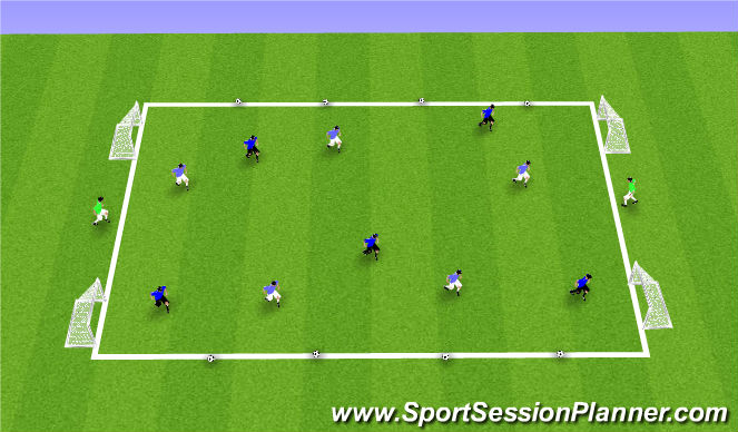 Football/Soccer Session Plan Drill (Colour): Possession Game 7vs5