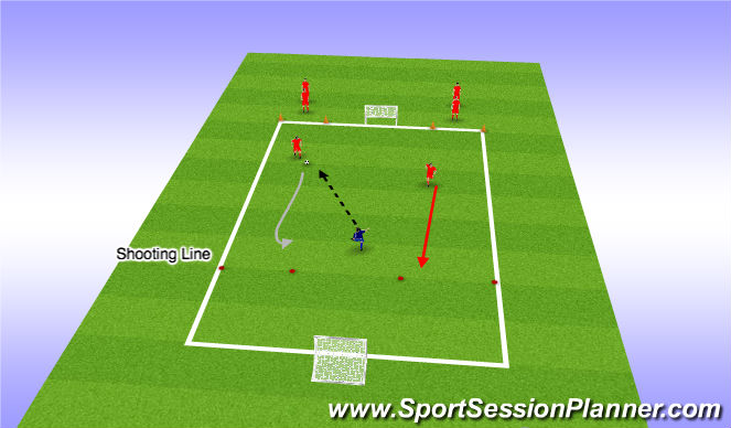 Football/Soccer Session Plan Drill (Colour): Decison Making