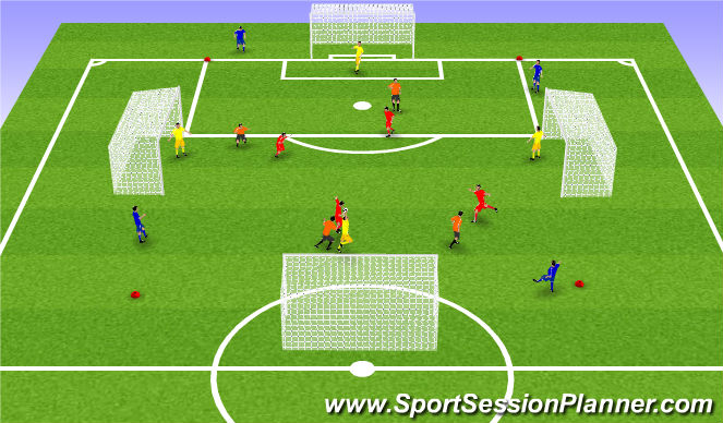Football/Soccer Session Plan Drill (Colour): Sértækur leikur: