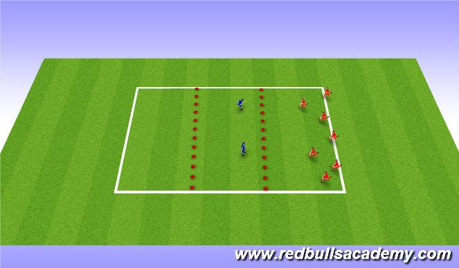 Football/Soccer Session Plan Drill (Colour): Sponge Bob