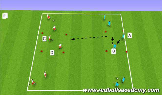 Football/Soccer Session Plan Drill (Colour): Technical - unnopossed