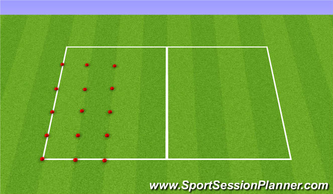 Football/Soccer Session Plan Drill (Colour): Ball Mastery + Stop n Starts