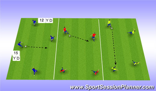 Football/Soccer Session Plan Drill (Colour): Warm Up - Passing and Moving