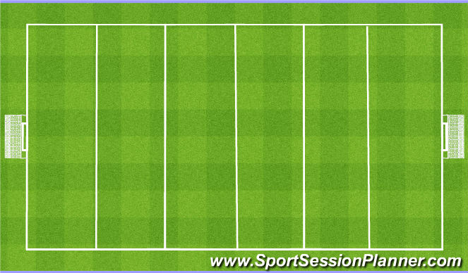 Football/Soccer Session Plan Drill (Colour): 6 Zone Final Game