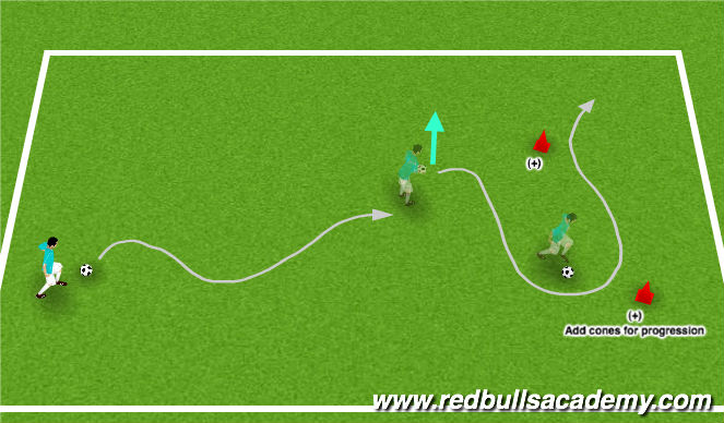Football/Soccer Session Plan Drill (Colour): Ball Control and Agility Warm-up