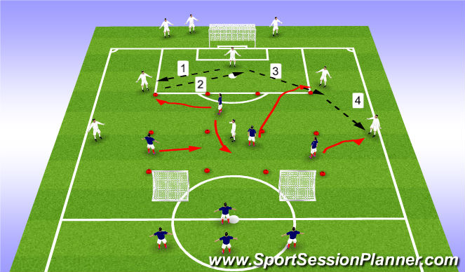 Football/Soccer Session Plan Drill (Colour): Phone 1b