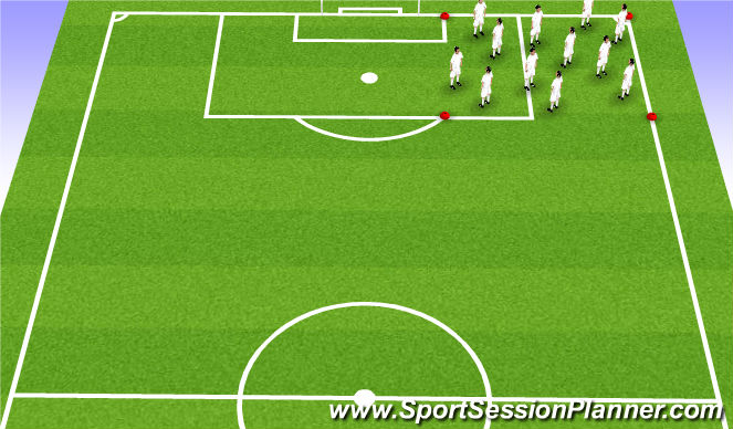 Football/Soccer Session Plan Drill (Colour): Dynamic Range of motion