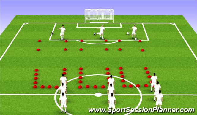 Football/Soccer Session Plan Drill (Colour): Neural Prep