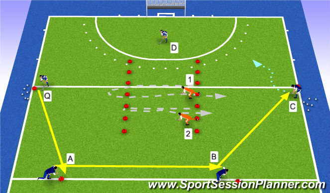 Hockey Session Plan Drill (Colour): transfer