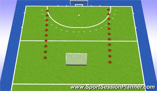 Hockey Session Plan Drill (Colour): 4v4v4