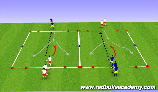 Football/Soccer Session Plan Drill (Colour): Main Theme 2/2