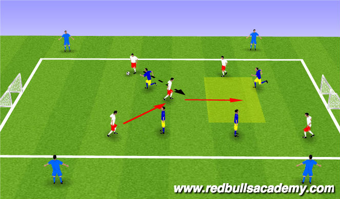 Football/Soccer Session Plan Drill (Colour): Conditioned Game Dribbling