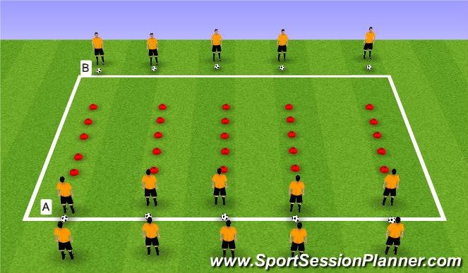 Football/Soccer Session Plan Drill (Colour): Step 4 Sprint/Fast Feet