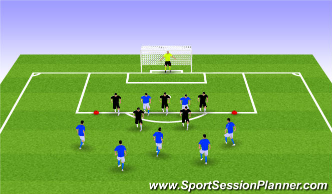 Football/Soccer Session Plan Drill (Colour): 7v5