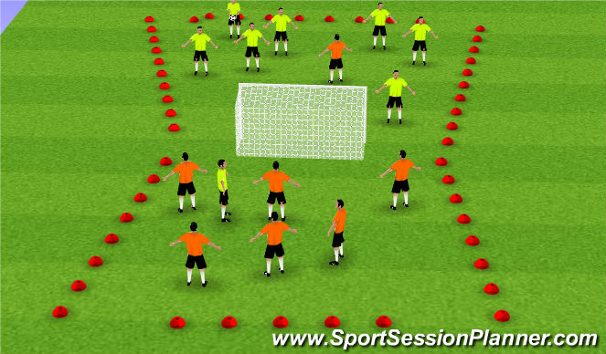 Football/Soccer Session Plan Drill (Colour): Tecnical