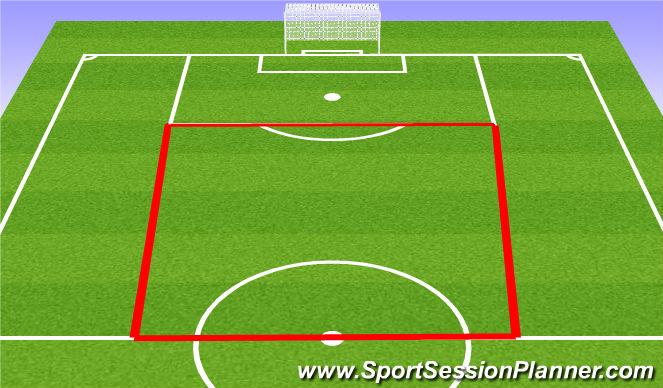 Football/Soccer Session Plan Drill (Colour): 12v6