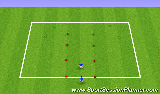 Football/Soccer Session Plan Drill (Colour): Defensive Warm-up