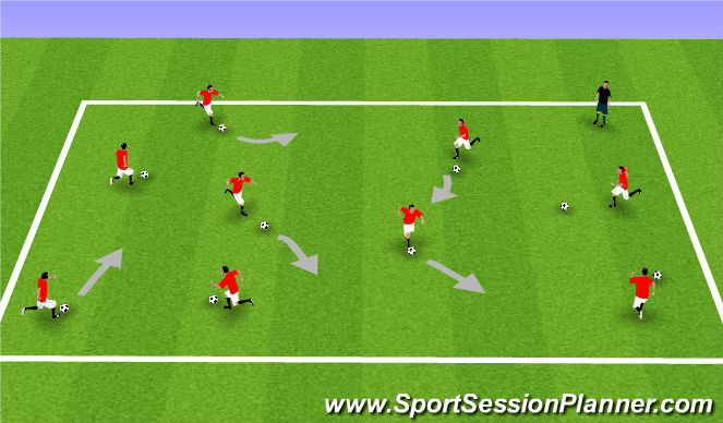 Football/Soccer Session Plan Drill (Colour): Edmonton Warm-Up Day 2