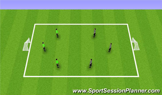 Football/Soccer Session Plan Drill (Colour): Match 3v3/4v4