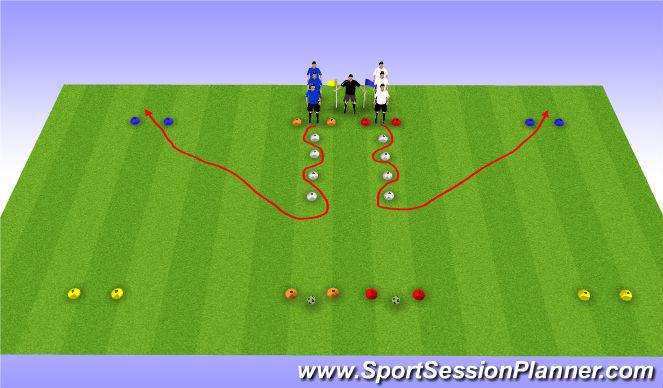 Football/Soccer Session Plan Drill (Colour): SAQ-warmup