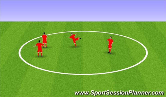 Football/Soccer Session Plan Drill (Colour): Trabajo Fisisco