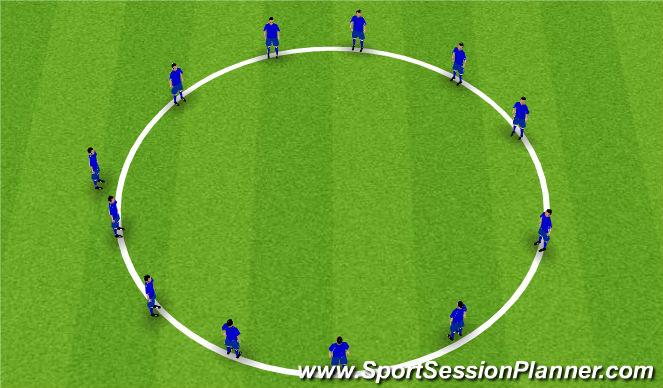 Football/Soccer Session Plan Drill (Colour): Estiramiento