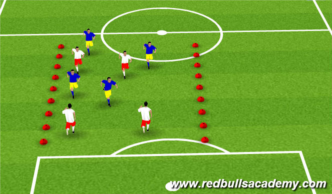 Football/Soccer Session Plan Drill (Colour): Warm Up (Tag)