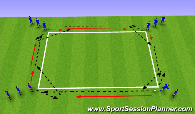 Football/Soccer Session Plan Drill (Colour): pass and close down progression