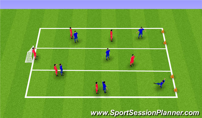 Football/Soccer Session Plan Drill (Colour): ssg with channels