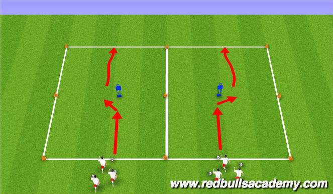 Football/Soccer Session Plan Drill (Colour): Main Theme II