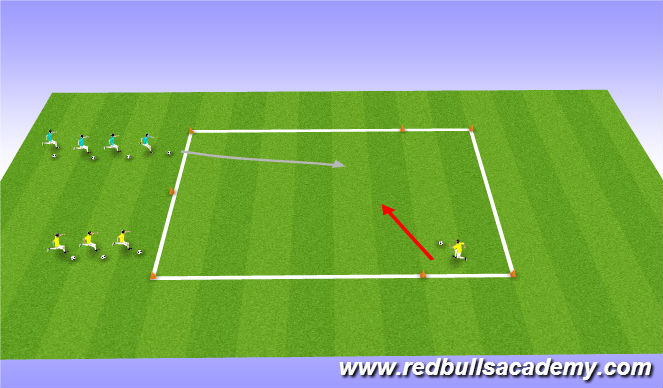 Football/Soccer Session Plan Drill (Colour): 1 vs 1 Conditioned Game