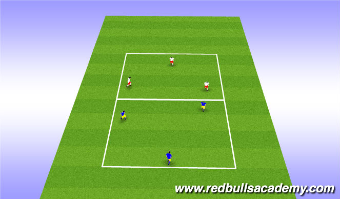 Football/Soccer Session Plan Drill (Colour): 3v1 posession