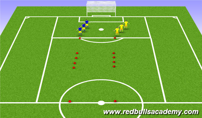 Football/Soccer Session Plan Drill (Colour): SAQ Warm up