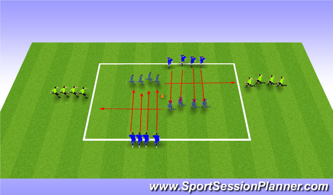 Football/Soccer Session Plan Drill (Colour): Bruyninckx Awareness Warmup