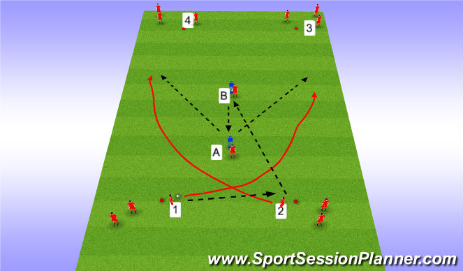 Football/Soccer Session Plan Drill (Colour): Y Passing 2
