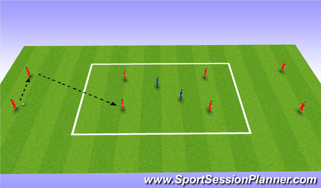 Football/Soccer Session Plan Drill (Colour): Pass/ Possession