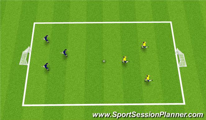 Football/Soccer Session Plan Drill (Colour): Game #v#