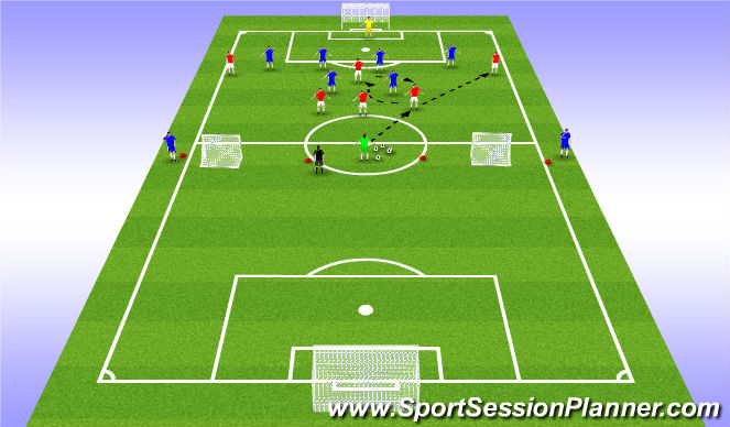 Football/Soccer Session Plan Drill (Colour): National B License