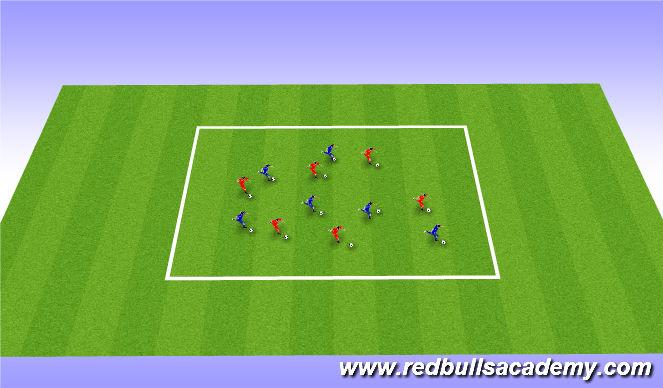 Football/Soccer Session Plan Drill (Colour): Messi/ Ronaldo intro