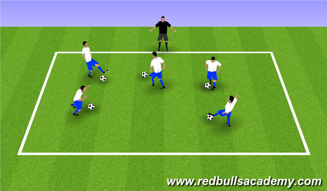 Football/Soccer Session Plan Drill (Colour): Body Part Trap