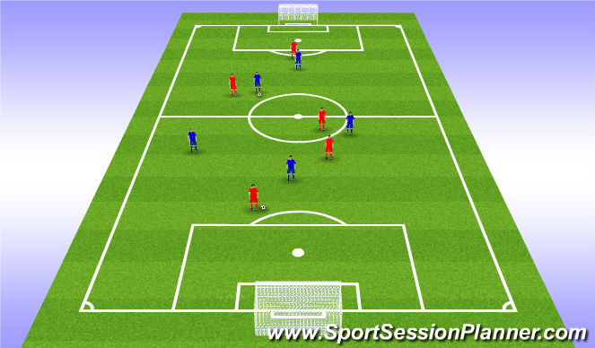 Football/Soccer Session Plan Drill (Colour): Two ball match
