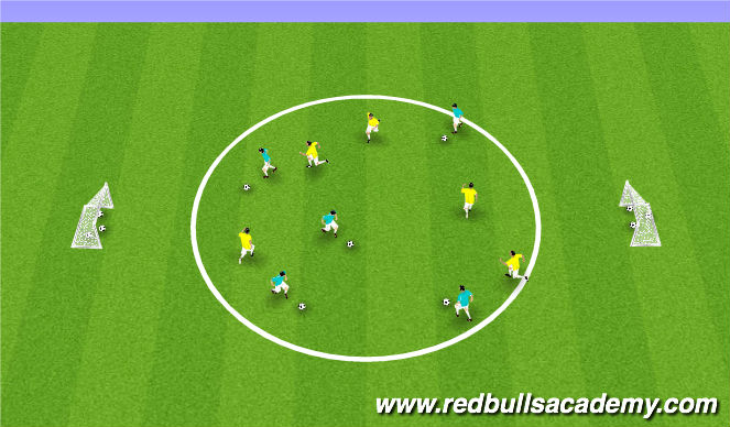 Football/Soccer Session Plan Drill (Colour): 1v1 Possession - Group Possession