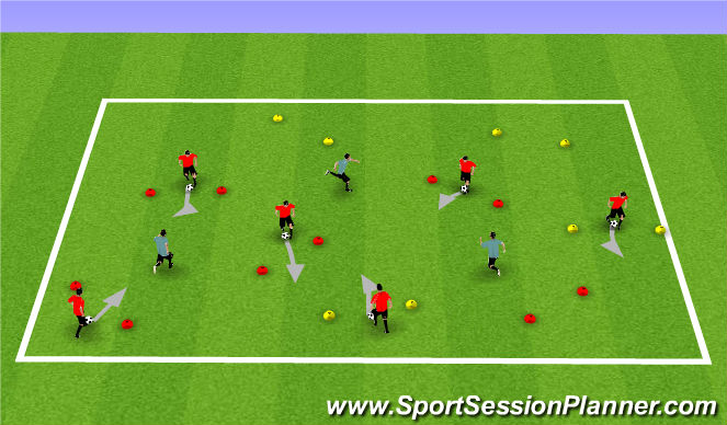 Football/Soccer Session Plan Drill (Colour): Opposed Small Sided Scenario