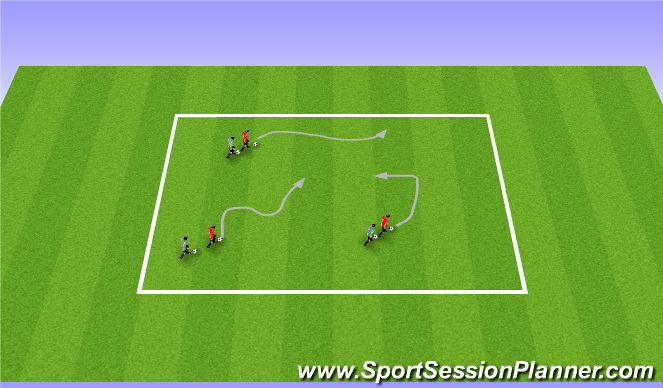 Football/Soccer Session Plan Drill (Colour): Warm Up: Follow the leader
