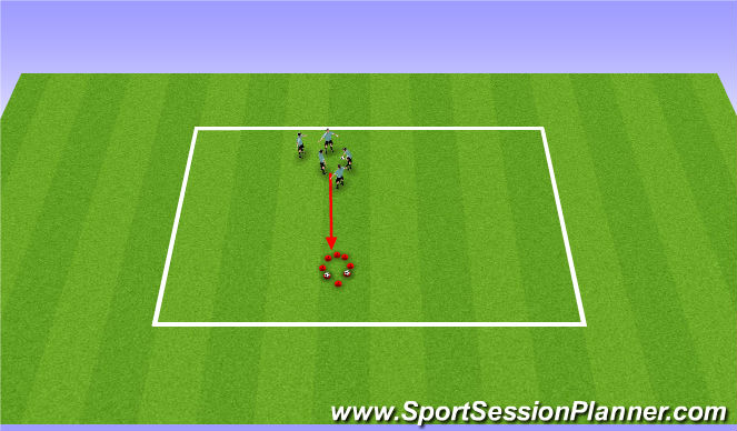 Football/Soccer Session Plan Drill (Colour): Fireman game