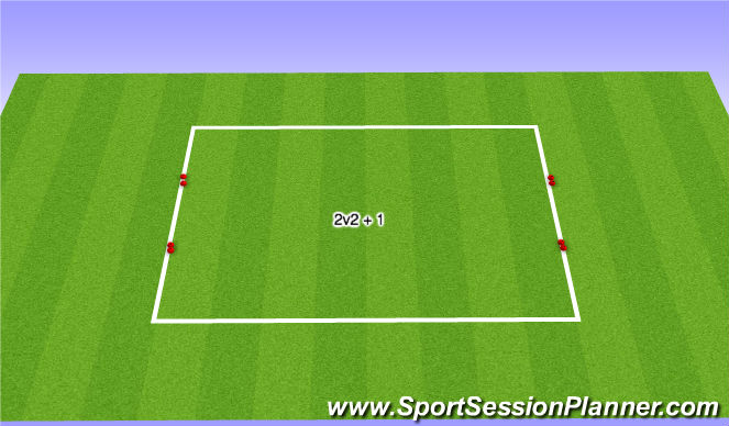 Football/Soccer Session Plan Drill (Colour): Free Play Game