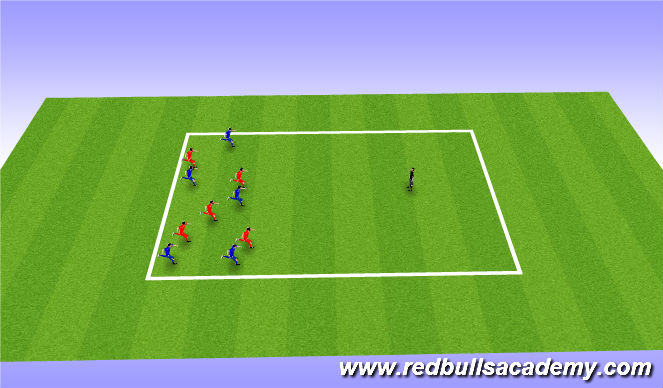 Football/Soccer Session Plan Drill (Colour): Red light Greenlight