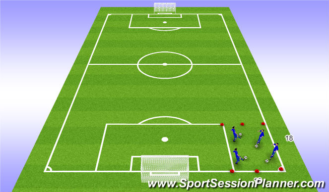 Football/Soccer Session Plan Drill (Colour): Beginning 1