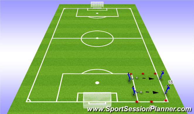 Football/Soccer Session Plan Drill (Colour): Middle 1