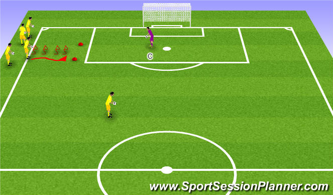 Football/Soccer Session Plan Drill (Colour): Middle 2